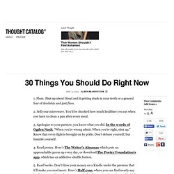 30 Things You Should Do Right Now