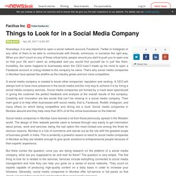 Things to Look for in a Social Media Company
