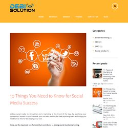 10 Things You Need to Know for Social Media Success