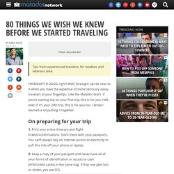 80 things we wish we knew before we started traveling