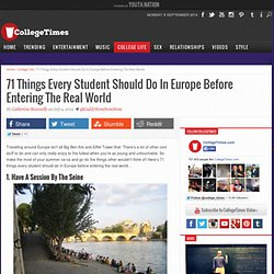 71 Things Every Student Should Do Europe