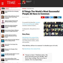 8 Things The World's Most Successful People All Have in Common