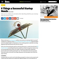 6 Things a Successful Startup Needs