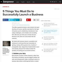 5 Things You Must Do to Successfully Launch a Business