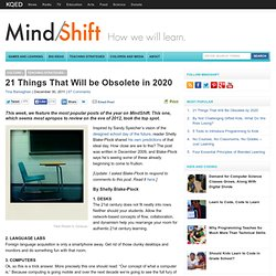 21 Things That Will be Obsolete in 2020