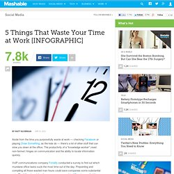 5 Things That Waste Your Time at Work [INFOGRAPHIC]
