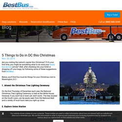 5 Things to Do in DC this Christmas