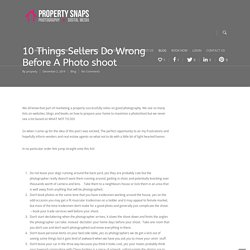 10 Things Vendors Do Wrong For Photos
