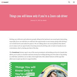 Things you will know only if you're a Zoom cab driver