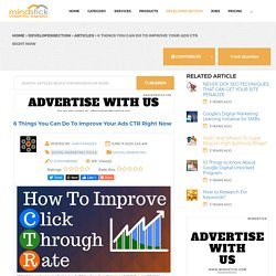 6 Things You Can Do To Improve Your Ads CTR Right Now