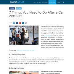 Seven Things To Do After Car Accident