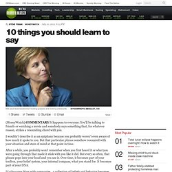 10 things you should learn to say