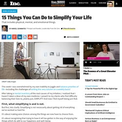 15 Things You Can Do to Simplify Your Life