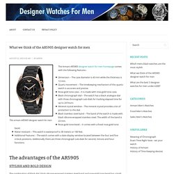 What we think of the AR5905 designer watch for men