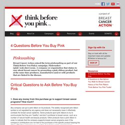 Think Before You Pink » 4 Questions Before You Buy Pink