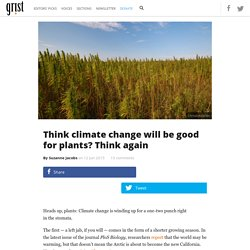Think climate change will be good for plants? Think again