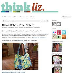 Diana Hobo – Free Pattern – think liz.