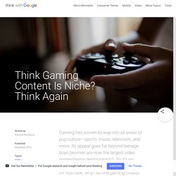 Think Gaming Content Is Niche? Think Again