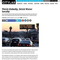 Think Globally, Drink Water Locally