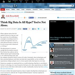 Think Big Data Is All Hype? You're Not Alone. - Arik Hesseldahl