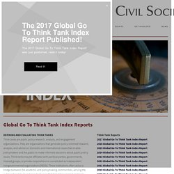 Think Tank Index — Think Tanks and Civil Societies Program