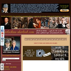 How to think like Sherlock Holmes online flash game