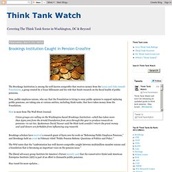 Think Tank Watch