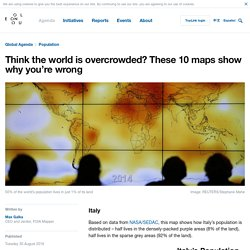*****Overpopulation / Underpopulation: Think the world is overcrowded? These 10 maps show why you're wrong