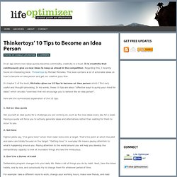 Thinkertoys' 10 Tips to Become an Idea Person