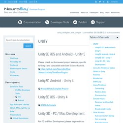 using_thinkgear_with_unity [NeuroSky Developer - Docs]