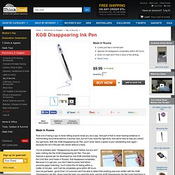 KGB Disappearing Ink Pen