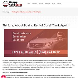 Thinking About Buying Rental Cars? Think Again!-Happy Auto