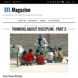 Thinking About Discipline - Part 3