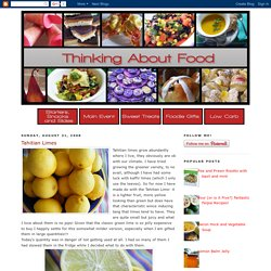 Thinking About Food: August 2008
