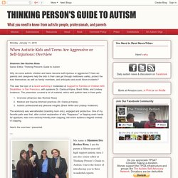 THINKING PERSON'S GUIDE TO AUTISM: When Autistic Kids and Teens Are Aggressive or Self-Injurious: Overview