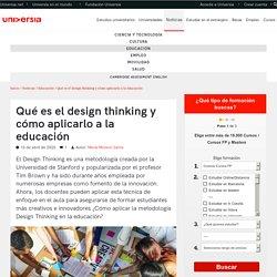 Qué es el design thinking y cómo aplicarlo a la educación
