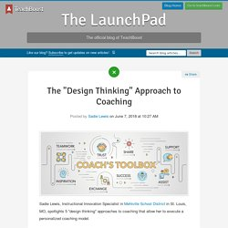 """The """"Design Thinking"""" Approach to Coaching"""