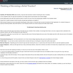 Thinking of Becoming a Relief Teacher?