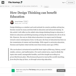 How Design Thinking can benefit Education – The Startup