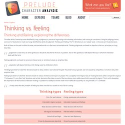 Thinking vs. Feeling