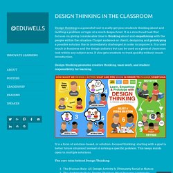 Design Thinking in the Classroom – @EDUWELLS
