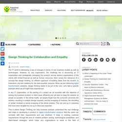 Design Thinking for Collaboration and Empathy