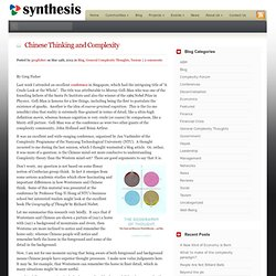 Chinese Thinking and Complexity