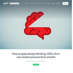 How to apply design thinking, HCD, UX or any creative process from scratch - Marvel Blog