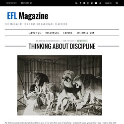 Thinking About Discipline - EFL Magazine