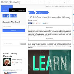 135 Self-Education Resources For Lifelong Learners