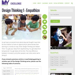 Design Thinking 1 - Empathize - Excellence Blog