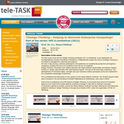Tele-TASK - tele-TASK Lecture: Design Thinking - Helping to Reinvent Enterprise Computing - Your online archive for high quality e-learning content