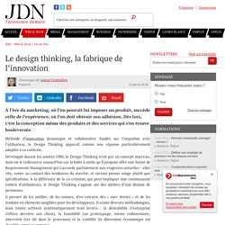 Le design thinking, la fabrique de l'innovation