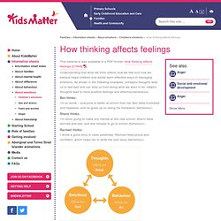 How thinking affects feelings